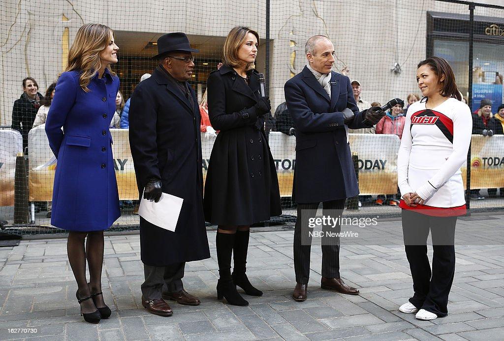 Natalie Morales, Al Roker, Savannah Guthrie, Matt Lauer and Ashlee Arnau appear on NBC News' 'Today' show --