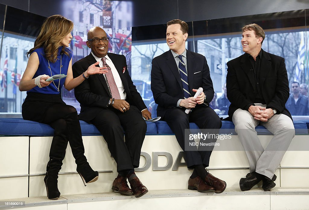 Natalie Morales, Al Roker, Willie Geist and Nicholas Sparks appear on NBC News' 'Today' show --