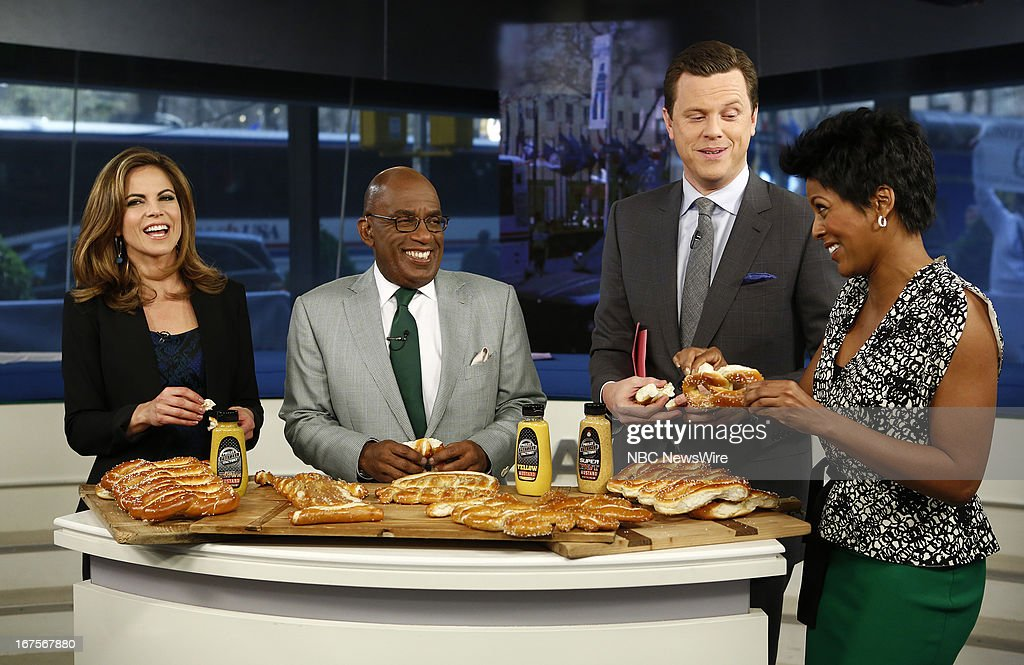 Natalie Morales, Al Roker, Willie Geist and Tamron Hall appear on NBC News' 'Today' show --