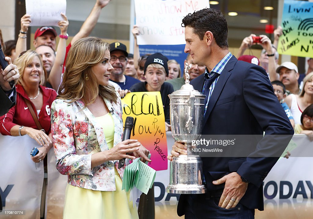 Natalie Morales and Justin Rose appear on NBC News' 'Today' show --