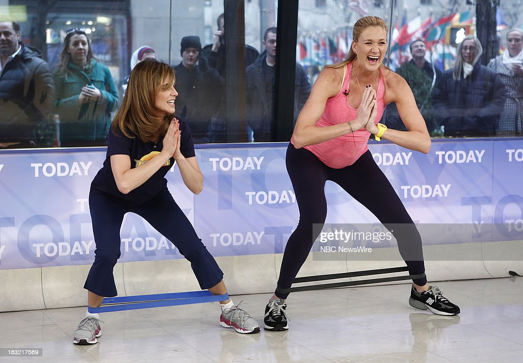 Natalie Morales and Kerri Walsh Jennings appear on NBC News' 'Today' show --