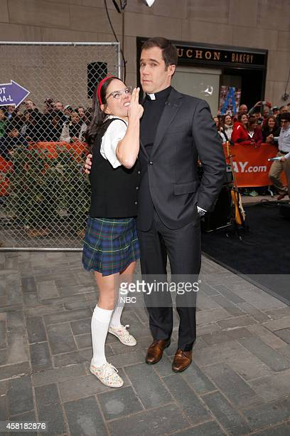 Natalie Morales and Peter Alexander appear on the 'Today' show on Thursday October 31 2014