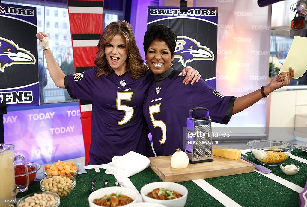 Natalie Morales and Tamron Hall appear on NBC News' 'Today' show --