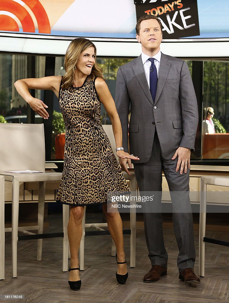 Natalie Morales and Willie Geist appear on NBC News' 'Today' show --