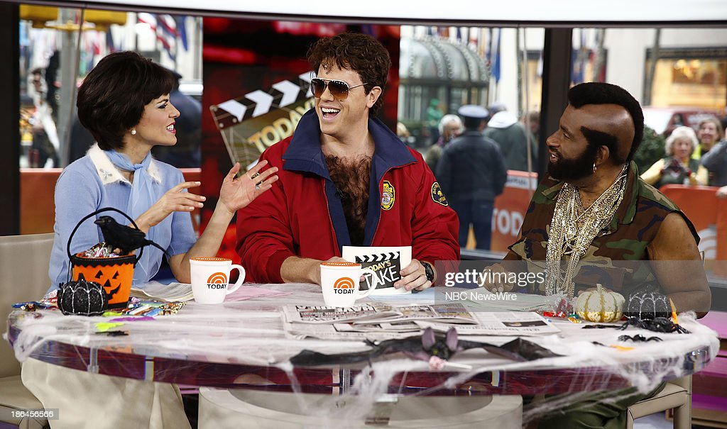Natalie Morales as Shirley Feeney Willie Geist as David Hasselhoff's Mitchand Al Roker as Mr T appear on NBC News' 'Today' show