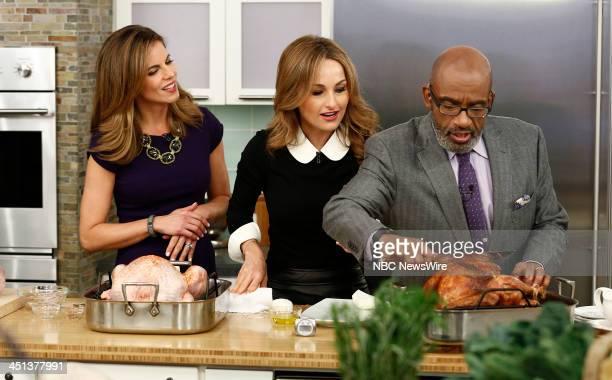 Natalie Morales Giada de Laurentiis and Al Roker appear on NBC News' 'Today' show