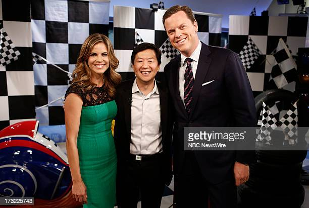 Natalie Morales Ken Jeong and Willie Geist appear on NBC News' 'Today' show