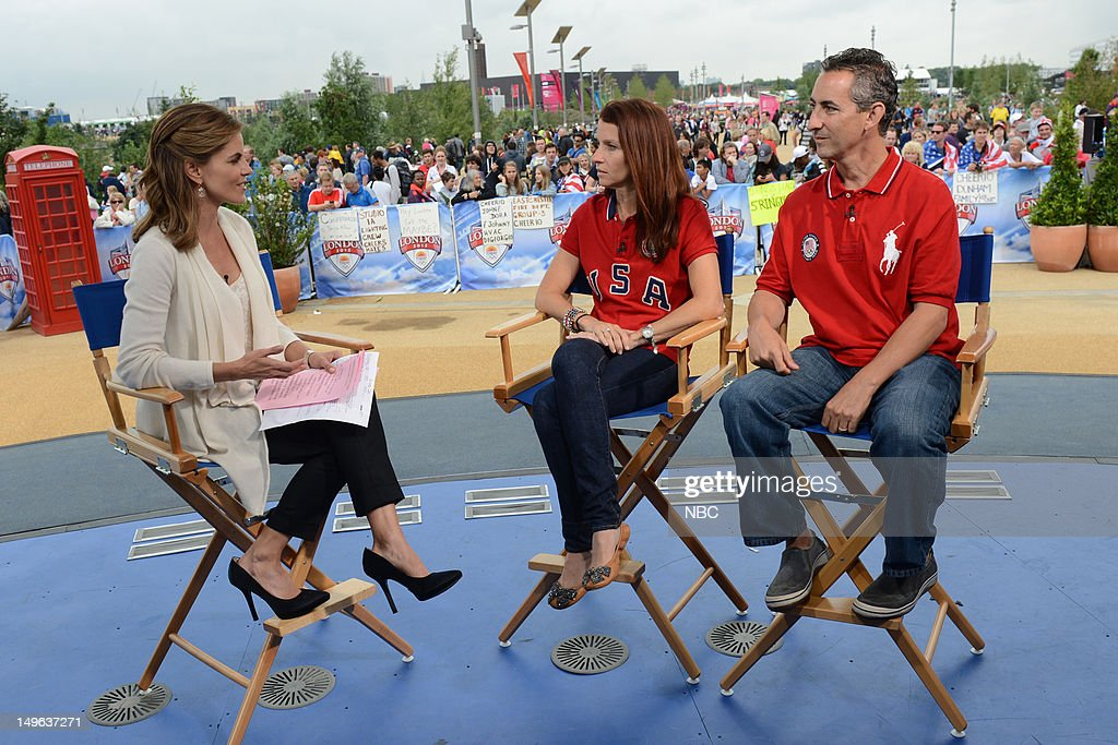 <a gi-track='captionPersonalityLinkClicked' href=/galleries/search?phrase=Natalie+Morales+-+News+Anchor&family=editorial&specificpeople=710956 ng-click='$event.stopPropagation()'>Natalie Morales</a>, Lynn and Rick Raisman during the 2012 Summer Olympic Games on July 31, 2012 in London, England --