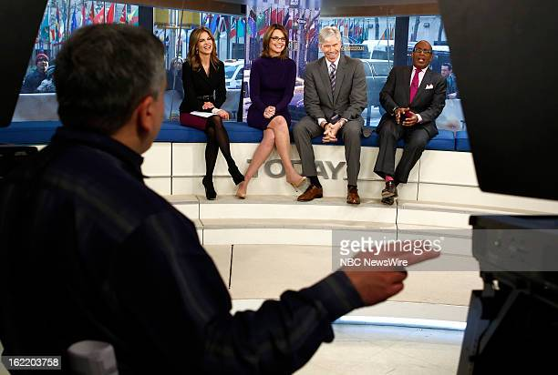 Natalie Morales Savannah Guthrie David Gregory and Al Roker appear on NBC News' 'Today' show