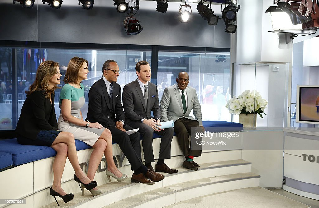 Natalie Morales, Savannah Guthrie, Lester Holt, Willie Geist and Al Roker appear on NBC News' 'Today' show --