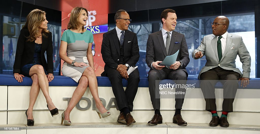 <a gi-track='captionPersonalityLinkClicked' href=/galleries/search?phrase=Natalie+Morales+-+News+Anchor&family=editorial&specificpeople=710956 ng-click='$event.stopPropagation()'>Natalie Morales</a>, <a gi-track='captionPersonalityLinkClicked' href=/galleries/search?phrase=Savannah+Guthrie&family=editorial&specificpeople=653313 ng-click='$event.stopPropagation()'>Savannah Guthrie</a>, <a gi-track='captionPersonalityLinkClicked' href=/galleries/search?phrase=Lester+Holt&family=editorial&specificpeople=2983122 ng-click='$event.stopPropagation()'>Lester Holt</a>, Willie Geist and <a gi-track='captionPersonalityLinkClicked' href=/galleries/search?phrase=Al+Roker&family=editorial&specificpeople=206153 ng-click='$event.stopPropagation()'>Al Roker</a> appear on NBC News' 'Today' show --