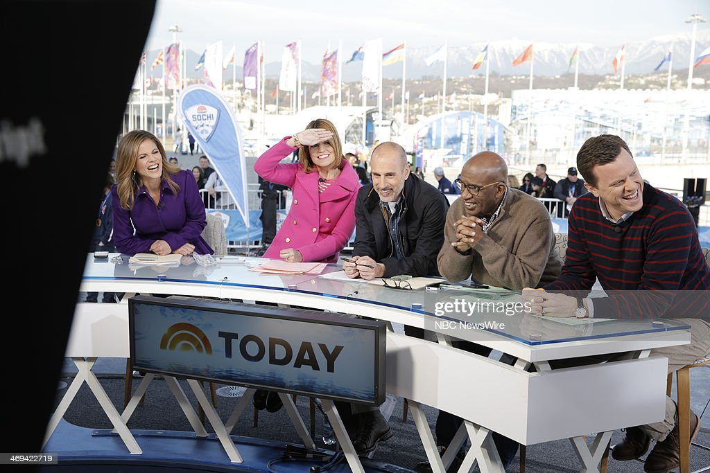 Natalie Morales, Savannah Guthrie, Matt Lauer, Al Roker, Willie Geist from the 2014 Olympics in Socci --