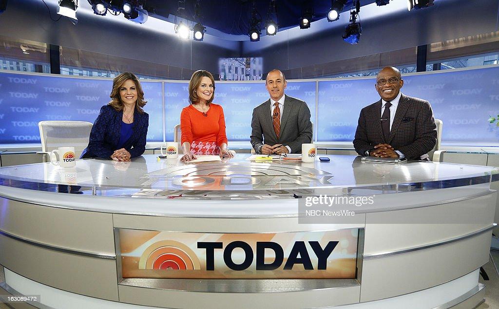 Natalie Morales, Savannah Guthrie, Matt Lauer and Al Roker appear on NBC News' 'Today' show --