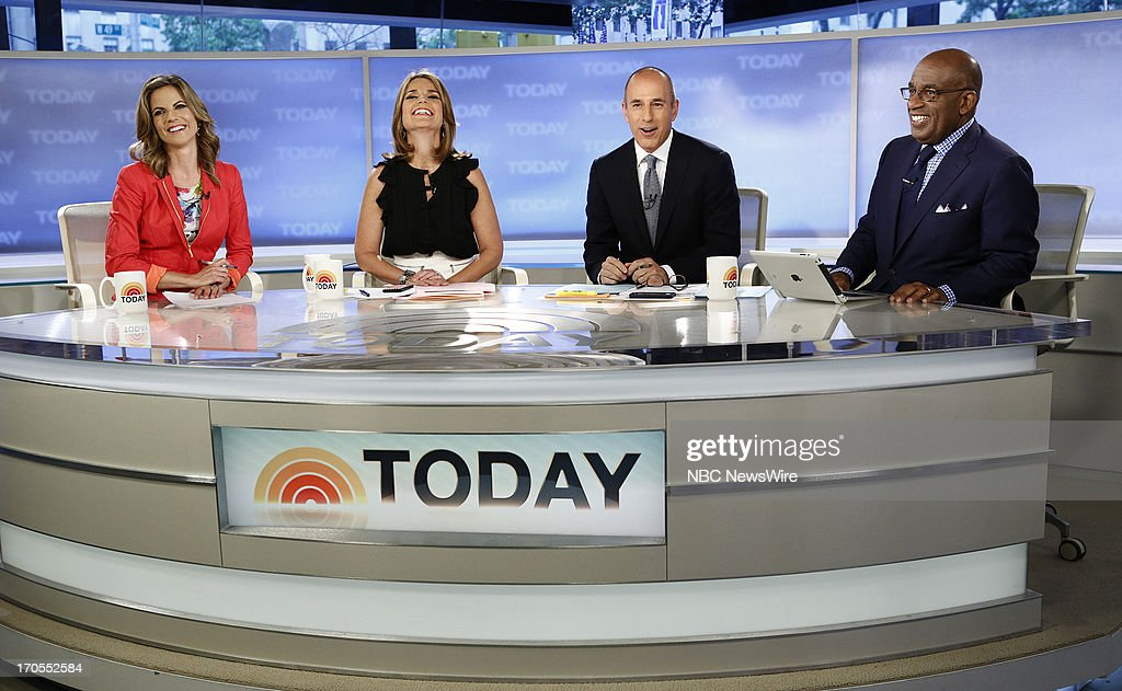 Natalie Morales, Savannah Guthrie, Matt Lauer and Al Roker appear on NBC News' 'Today' show --