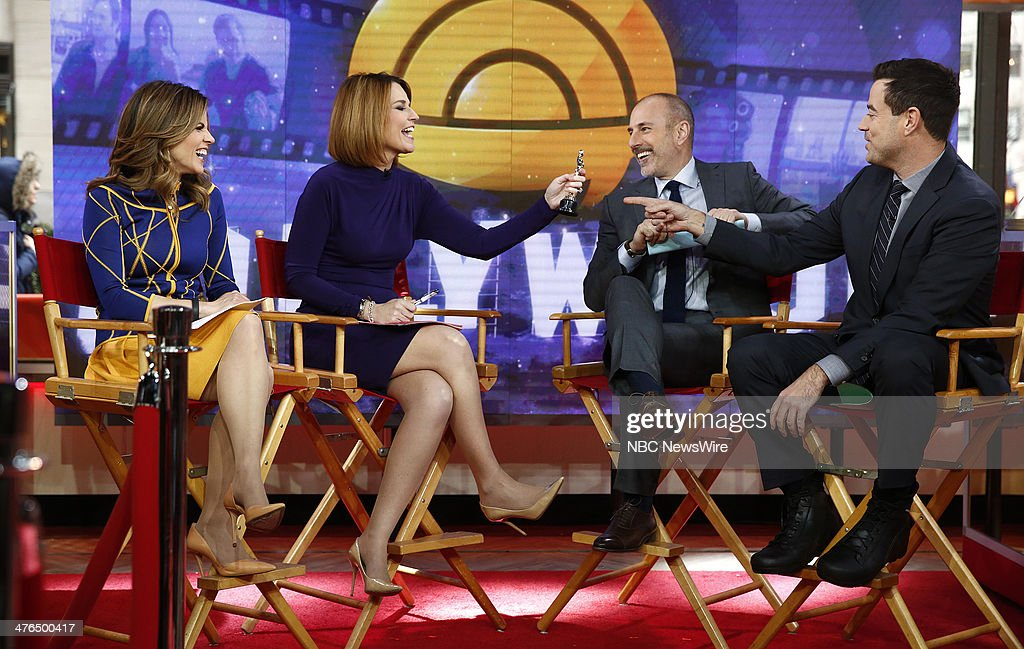 Natalie Morales, Savannah Guthrie, Matt Lauer and Carson Daly appear on NBC News' 'Today' show --