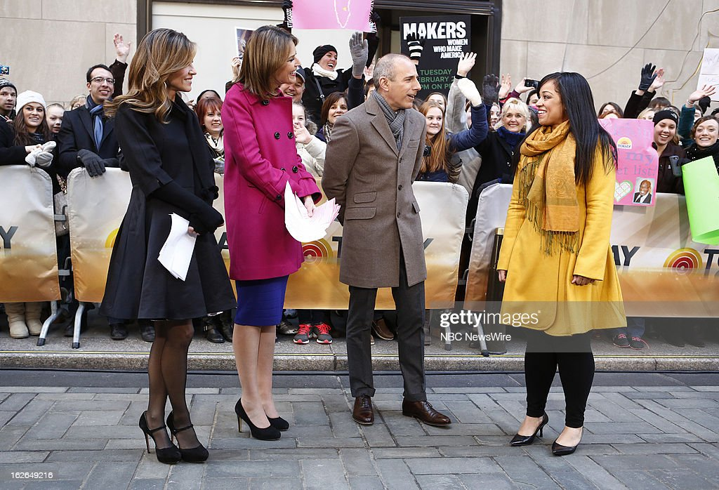 Natalie Morales, Savannah Guthrie, Matt Lauer and Francelina Morillo appear on NBC News' 'Today' show --