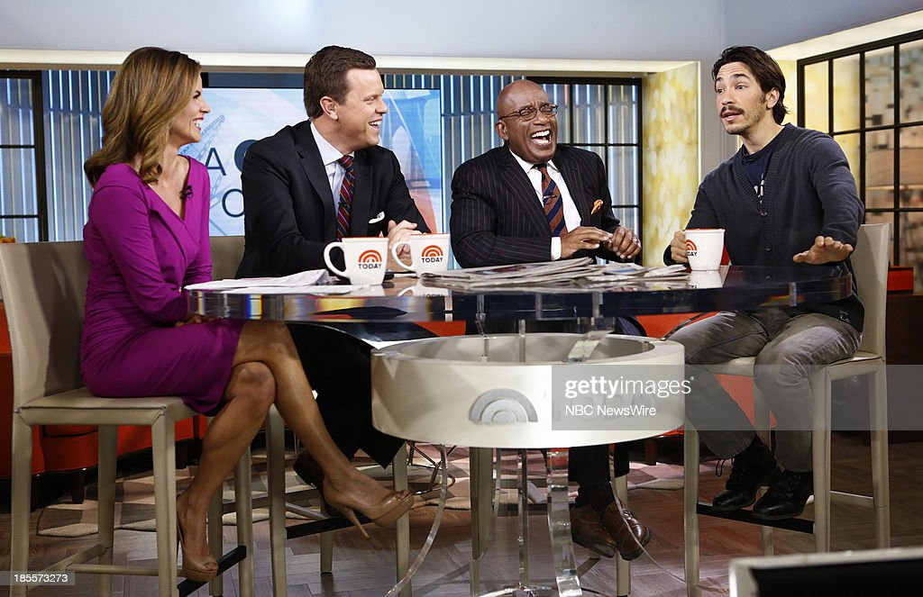 Natalie Morales, Willie Geist, Al Roker and Justin Long appear on NBC News' 'Today' show --