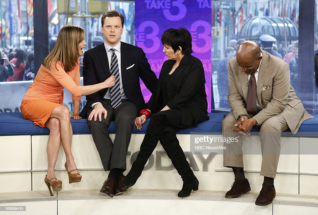 <a gi-track='captionPersonalityLinkClicked' href=/galleries/search?phrase=Natalie+Morales+-+News+Anchor&family=editorial&specificpeople=710956 ng-click='$event.stopPropagation()'>Natalie Morales</a>, Willie Geist, <a gi-track='captionPersonalityLinkClicked' href=/galleries/search?phrase=Liza+Minnelli&family=editorial&specificpeople=121547 ng-click='$event.stopPropagation()'>Liza Minnelli</a> and <a gi-track='captionPersonalityLinkClicked' href=/galleries/search?phrase=Al+Roker&family=editorial&specificpeople=206153 ng-click='$event.stopPropagation()'>Al Roker</a> appear on NBC News' 'Today' show --