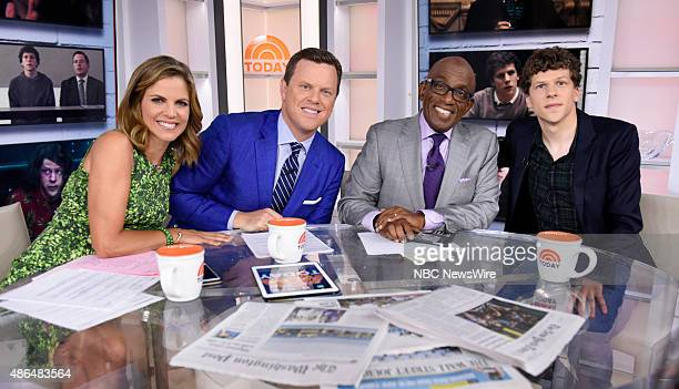Natalie Morales Willie Geist Savannah Guthrie Al Roker and Jesse Eisenberg appear on NBC News' 'Today' show