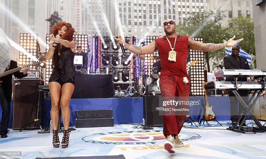 Natlie La Rose and Flo Rida appear on NBC News' 'Today' show --