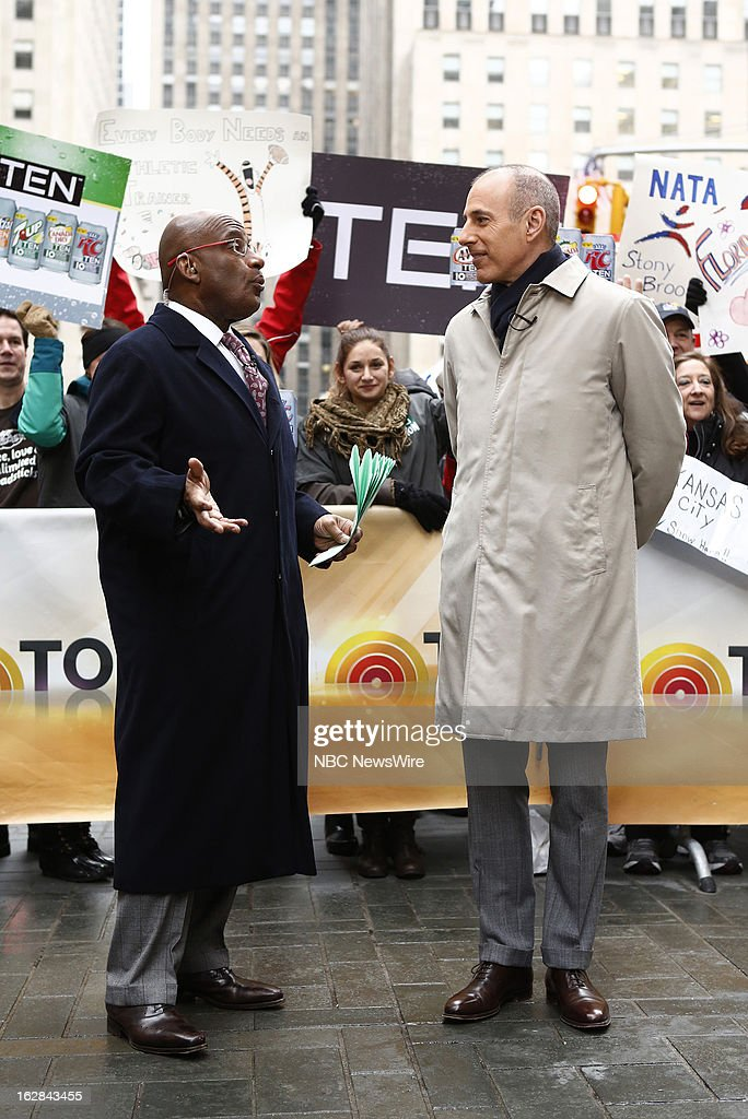 NBC News' Al Roker and Matt Lauer appear on NBC News' 'Today' show on February 28, 2013 --