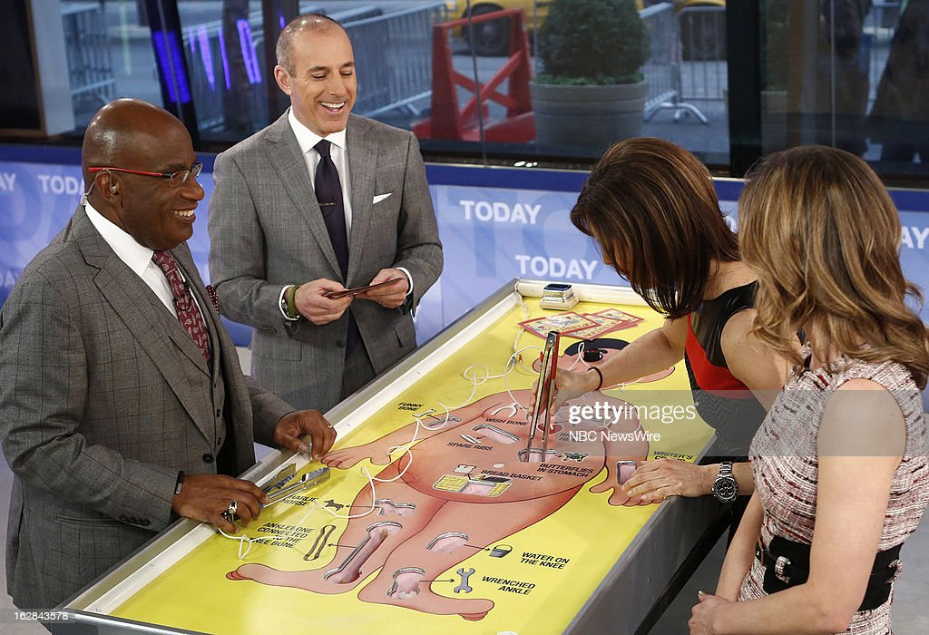 NBC News' Al Roker, Matt Lauer, Jenna Wolfe and Natalie Morales appear on NBC News' 'Today' show on February 28, 2013 --