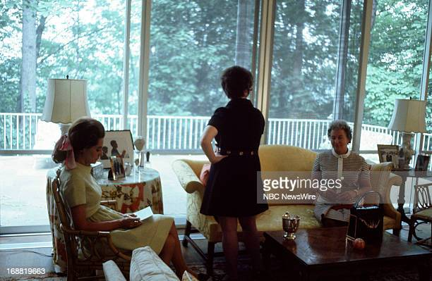NBC News' Barbara Walters at the Kennedy Compound in Hyannis Port Massachusetts on May 29 1970 on the anniversary of his President John F Kennedy's...
