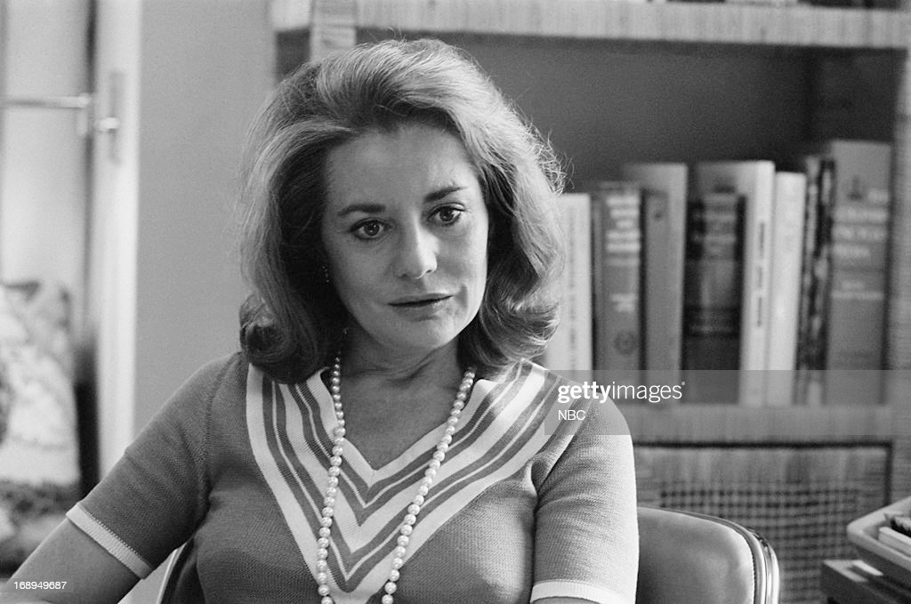 NBC News' Barbara Walters during an interview for Broadcasting Magazine in July 1975 --