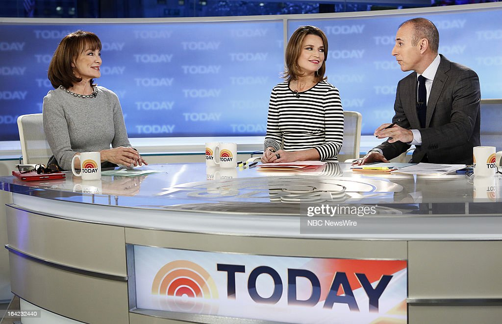 NBC News' Dr. Nancy Snyderman, <a gi-track='captionPersonalityLinkClicked' href=/galleries/search?phrase=Savannah+Guthrie&family=editorial&specificpeople=653313 ng-click='$event.stopPropagation()'>Savannah Guthrie</a>, <a gi-track='captionPersonalityLinkClicked' href=/galleries/search?phrase=Matt+Lauer&family=editorial&specificpeople=206146 ng-click='$event.stopPropagation()'>Matt Lauer</a> appear on NBC News' 'Today' show on March 21, 2013 --