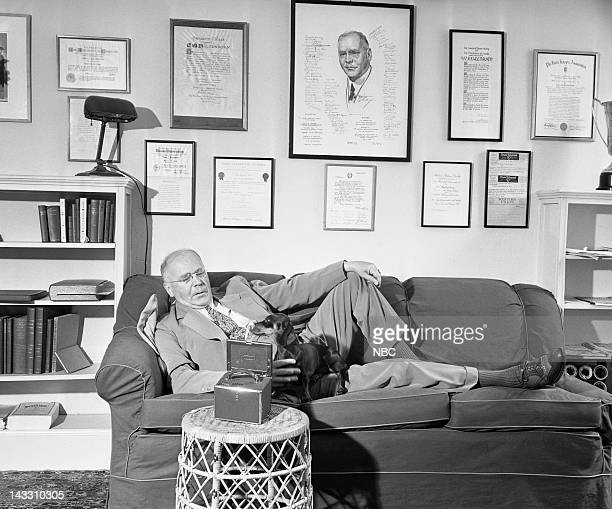 NBC News' H V Kaltenborn at home in 1943