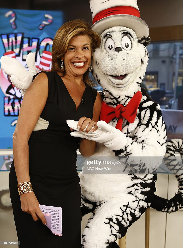 NBC News' Hoda Kotb and Dr. Seuss' Cat In The Hat appear on NBC News' 'Today' show on February 27, 2013 --