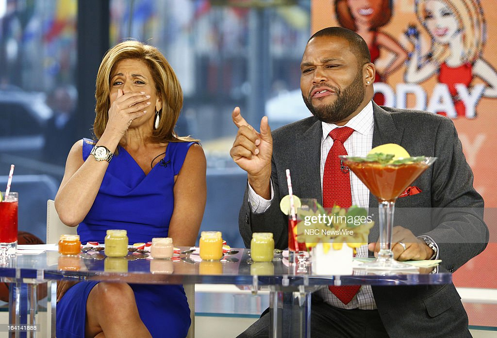 NBC News' Hoda Kotb and guest host Anthony Anderson appear on NBC News' 'Today' show on March 20, 2013 --