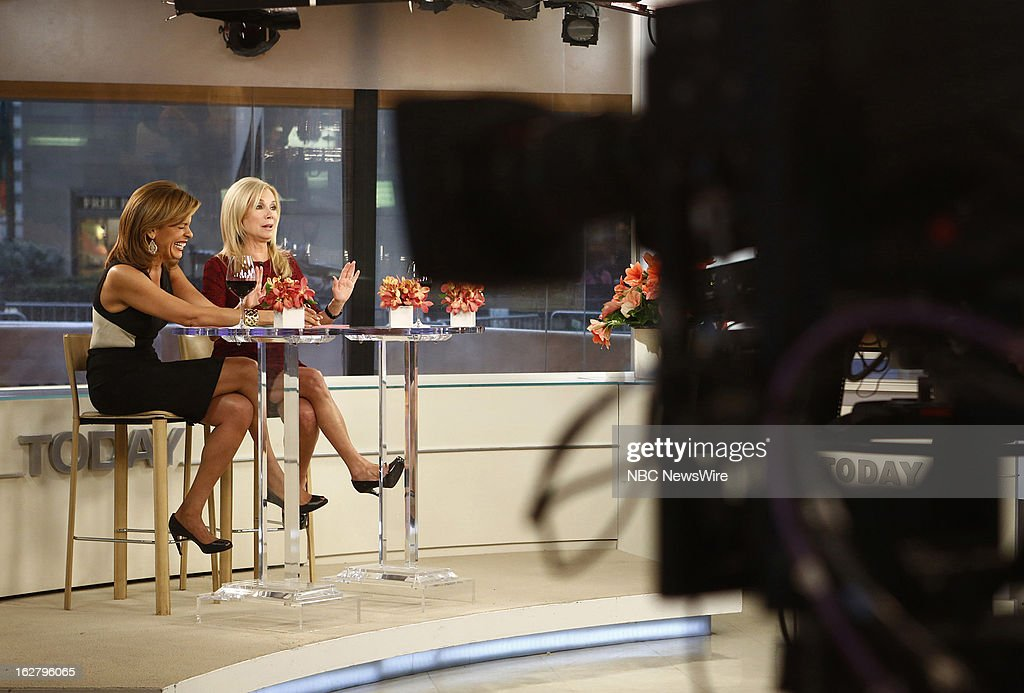 NBC News' Hoda Kotb and Kathie Lee Gifford appear on NBC News' 'Today' show on February 27, 2013 --