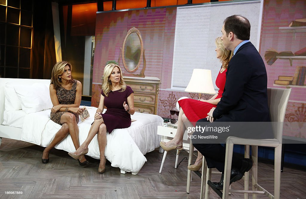 NBC News' <a gi-track='captionPersonalityLinkClicked' href=/galleries/search?phrase=Hoda+Kotb&family=editorial&specificpeople=2338013 ng-click='$event.stopPropagation()'>Hoda Kotb</a> and <a gi-track='captionPersonalityLinkClicked' href=/galleries/search?phrase=Kathie+Lee+Gifford&family=editorial&specificpeople=203269 ng-click='$event.stopPropagation()'>Kathie Lee Gifford</a>, Dr. Carol Ash, sleep specialist Michael Breus appear on NBC News' 'Today' show on November 5, 2013 --