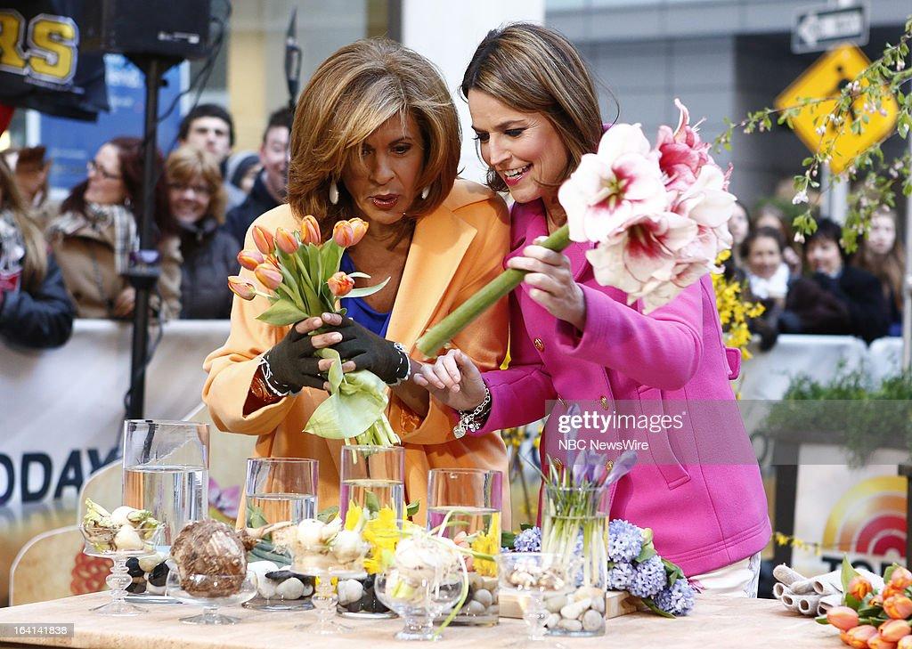 NBC News' Hoda Kotb and Savannah Guthrie appear on NBC News' 'Today' show on March 20, 2013 --