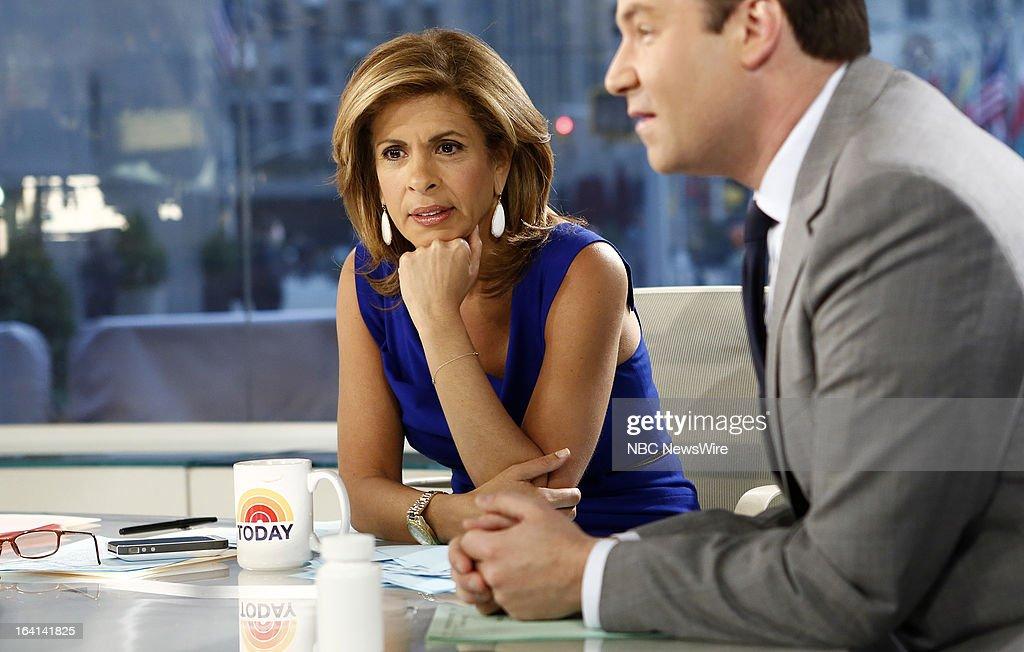 NBC News' Hoda Kotb appears on NBC News' 'Today' show on March 20, 2013 --