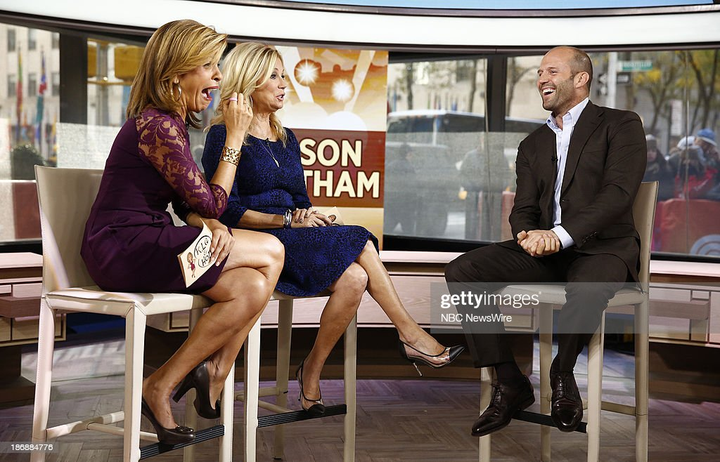 NBC News' <a gi-track='captionPersonalityLinkClicked' href=/galleries/search?phrase=Hoda+Kotb&family=editorial&specificpeople=2338013 ng-click='$event.stopPropagation()'>Hoda Kotb</a>, <a gi-track='captionPersonalityLinkClicked' href=/galleries/search?phrase=Kathie+Lee+Gifford&family=editorial&specificpeople=203269 ng-click='$event.stopPropagation()'>Kathie Lee Gifford</a> and actor <a gi-track='captionPersonalityLinkClicked' href=/galleries/search?phrase=Jason+Statham&family=editorial&specificpeople=217567 ng-click='$event.stopPropagation()'>Jason Statham</a> appear on NBC News' 'Today' show on November 4, 2013 --