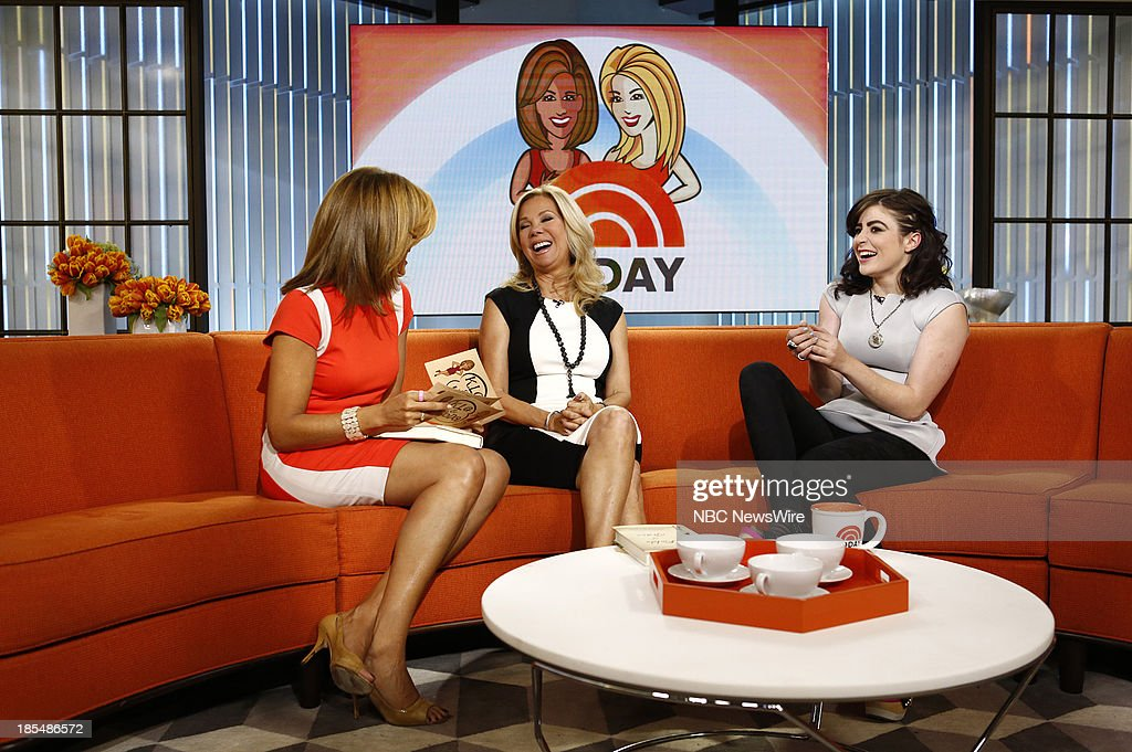 NBC News' <a gi-track='captionPersonalityLinkClicked' href=/galleries/search?phrase=Hoda+Kotb&family=editorial&specificpeople=2338013 ng-click='$event.stopPropagation()'>Hoda Kotb</a>, <a gi-track='captionPersonalityLinkClicked' href=/galleries/search?phrase=Kathie+Lee+Gifford&family=editorial&specificpeople=203269 ng-click='$event.stopPropagation()'>Kathie Lee Gifford</a> and author/humanitarian Hannah Luce appear on NBC News' 'Today' show on October 21, 2013 --