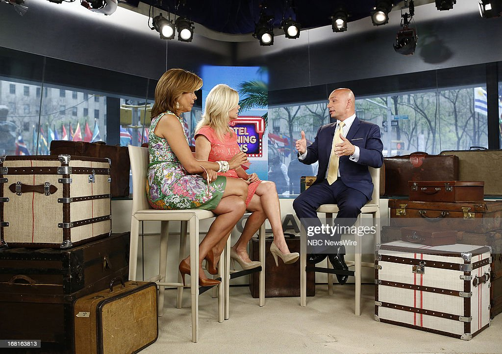NBC News' <a gi-track='captionPersonalityLinkClicked' href=/galleries/search?phrase=Hoda+Kotb&family=editorial&specificpeople=2338013 ng-click='$event.stopPropagation()'>Hoda Kotb</a>, <a gi-track='captionPersonalityLinkClicked' href=/galleries/search?phrase=Kathie+Lee+Gifford&family=editorial&specificpeople=203269 ng-click='$event.stopPropagation()'>Kathie Lee Gifford</a> and travel expert Anthony Melchiorri appear on NBC News' 'Today' show on May 6, 2013 --