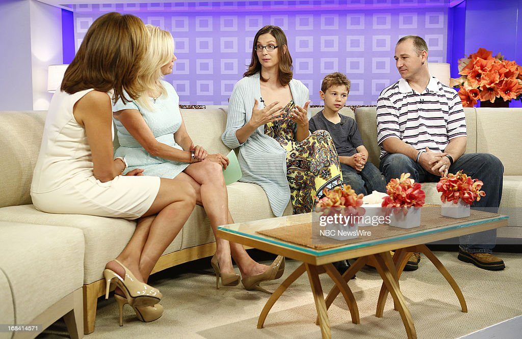 NBC News' Hoda Kotb, Kathie Lee Gifford, Cassie Kelm, A.J. Kelm and James Kelm appear on NBC News' 'Today' show on May 9, 2013 --