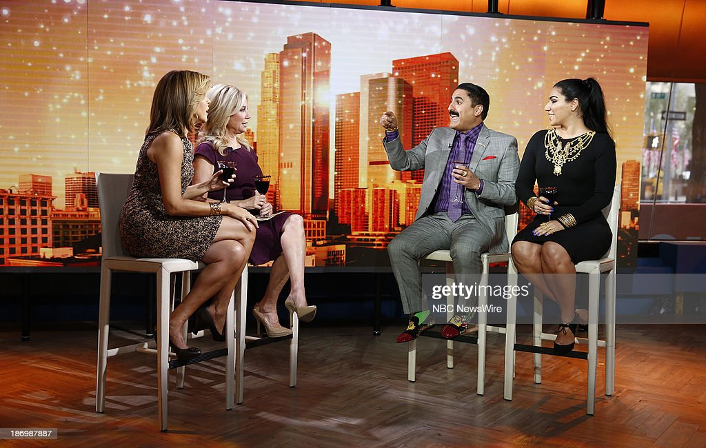 NBC News' <a gi-track='captionPersonalityLinkClicked' href=/galleries/search?phrase=Hoda+Kotb&family=editorial&specificpeople=2338013 ng-click='$event.stopPropagation()'>Hoda Kotb</a>, <a gi-track='captionPersonalityLinkClicked' href=/galleries/search?phrase=Kathie+Lee+Gifford&family=editorial&specificpeople=203269 ng-click='$event.stopPropagation()'>Kathie Lee Gifford</a>, reality stars <a gi-track='captionPersonalityLinkClicked' href=/galleries/search?phrase=Reza+Farahan&family=editorial&specificpeople=9012581 ng-click='$event.stopPropagation()'>Reza Farahan</a> and Asa Soltan Rahmati appear on NBC News' 'Today' show on November 5, 2013 --