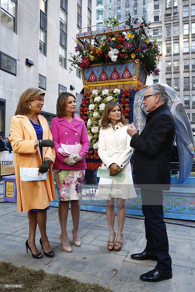 NBC News' Hoda Kotb, Savannah Guthrie, Natalie Morales and actress Robin Hall appear on NBC News' 'Today' show on March 20, 2013 --