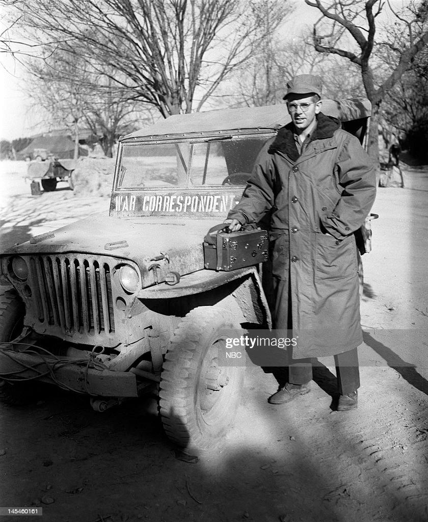NBC News' John Rich in Taegu, South Korea (present-day Daegu, South Korea) in February, 1951 --