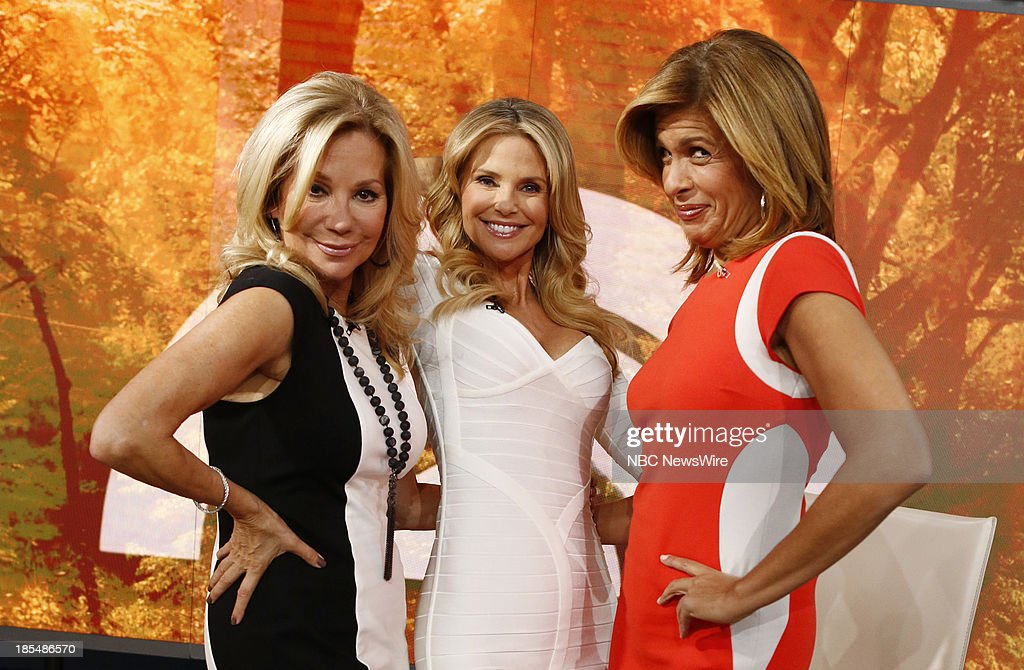 NBC News' <a gi-track='captionPersonalityLinkClicked' href=/galleries/search?phrase=Kathie+Lee+Gifford&family=editorial&specificpeople=203269 ng-click='$event.stopPropagation()'>Kathie Lee Gifford</a>, model <a gi-track='captionPersonalityLinkClicked' href=/galleries/search?phrase=Christie+Brinkley&family=editorial&specificpeople=204151 ng-click='$event.stopPropagation()'>Christie Brinkley</a> and NBC News' <a gi-track='captionPersonalityLinkClicked' href=/galleries/search?phrase=Hoda+Kotb&family=editorial&specificpeople=2338013 ng-click='$event.stopPropagation()'>Hoda Kotb</a> appear on NBC News' 'Today' show on October 21, 2013 --