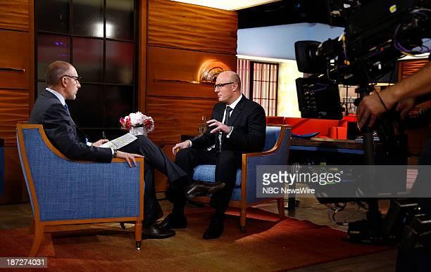 NBC News' Matt Lauer and President of the Sochi 2014 Olympic Organizing Committee Dmitry Chernyshenko appear on NBC News' 'Today' show