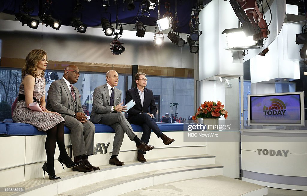 NBC News' Natalie Morales, Al Roker, Matt Lauer and Bobby Flay appear on NBC News' 'Today' show on February 28, 2013 --
