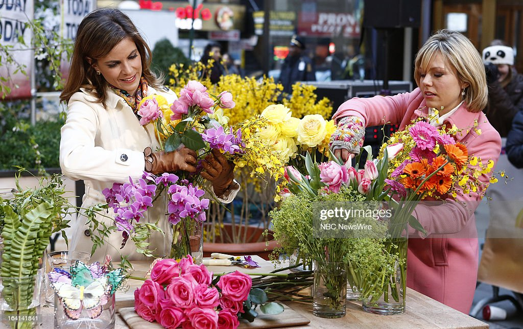 NBC News' Natalie Morales and Dylan Dreyer appear on NBC News' 'Today' show on March 20, 2013 --