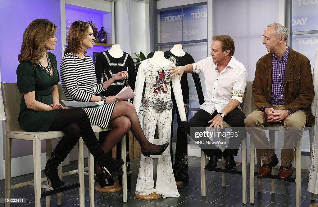 NBC News' Natalie Morales, Savannah Guthrie, musician/actor David Cassidy and Julien's Auctions' Martin Nolan appear on NBC News' 'Today' show on March 21, 2013 --