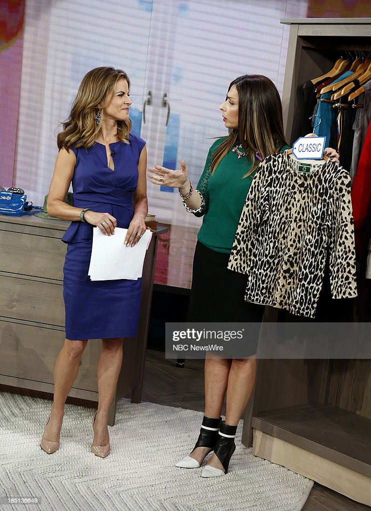 NBC News' Natalie Morales stylist Stacy London appear on NBC News' 'Today' show on October 17 2013