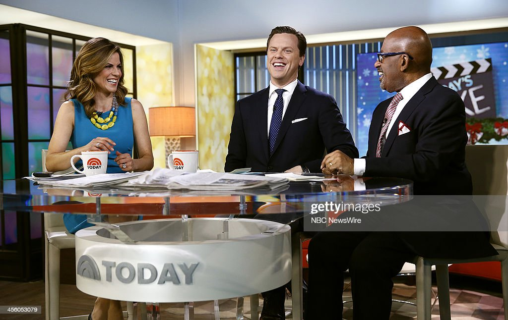 NBC News' Natalie Morales, Willie Geist and Al Roker appear on NBC News' 'Today' show on December 13, 2013 --